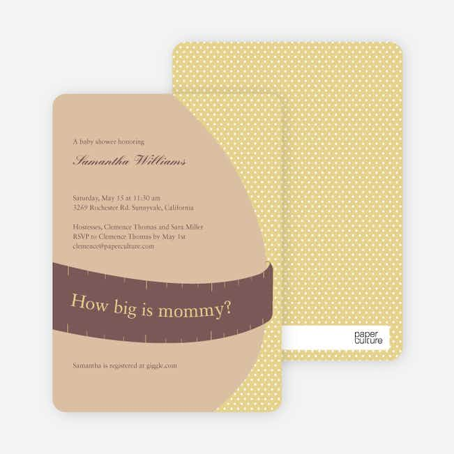 The Bump Baby Shower Invitations - Mustard