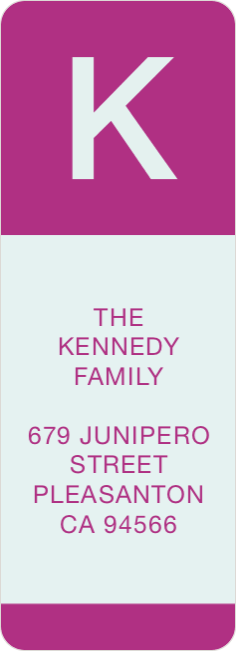 Bold Monogram Custom Address Labels - Purple