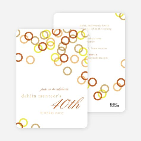 Rings Galore Party Invitations
