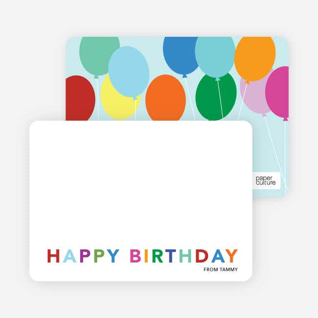 Balloon Birthday Party Invitations - Blue