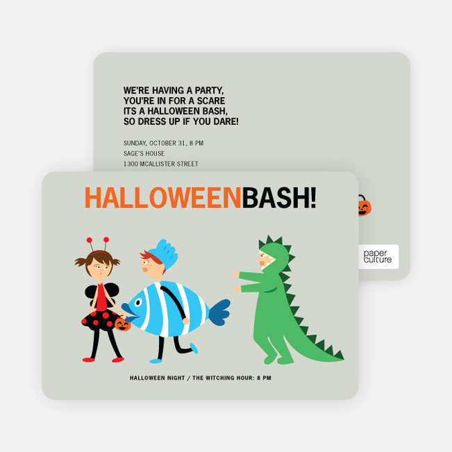 Ladybug Fish and Alligator Costume Party Invitations Paper Culture