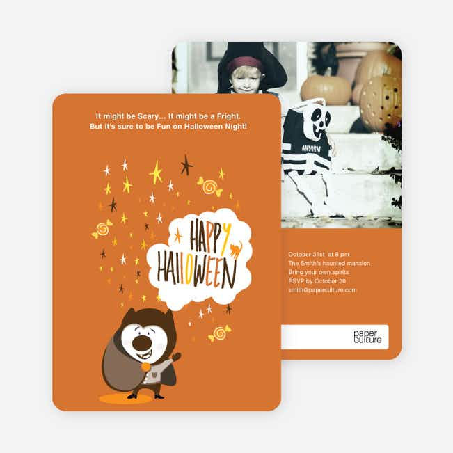 Magical Costume Party Halloween Invitations - Dull Orange