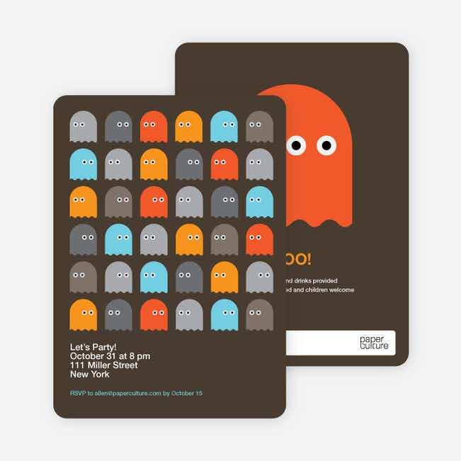 Not so Scary Ghost Halloween Invitations - Taupe