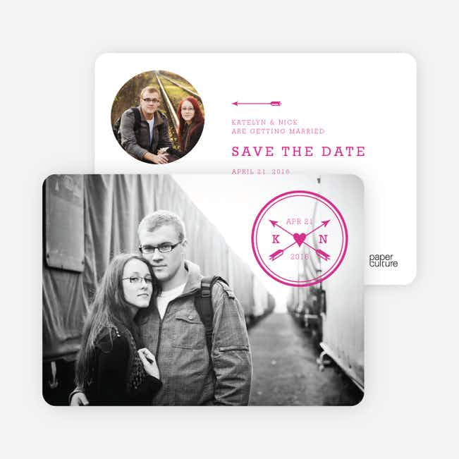 Shot Through the Heart Save the Date Cards - Red