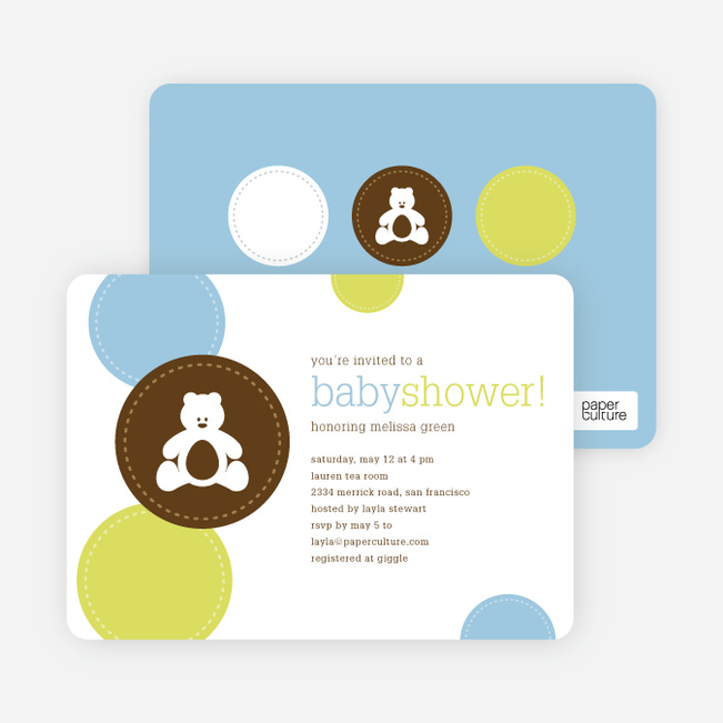 Teddy the Bear Baby Shower Invitations Paper Culture