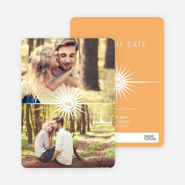 Burst of Joy Save the Date Cards - Orange
