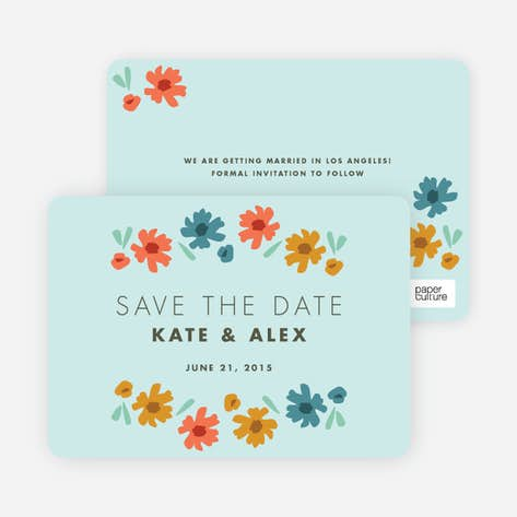 Chic Floral Save The Date Cards Paper Culture