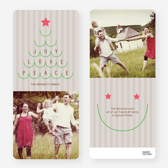 Christmas Tree Christmas Cards - Green