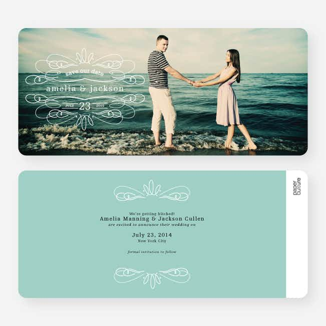 Flourish Save the Date Cards - Red