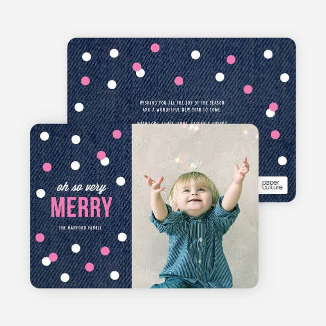 Holiday Card of Circles: Confetti, Ornaments or Snow? - Pink