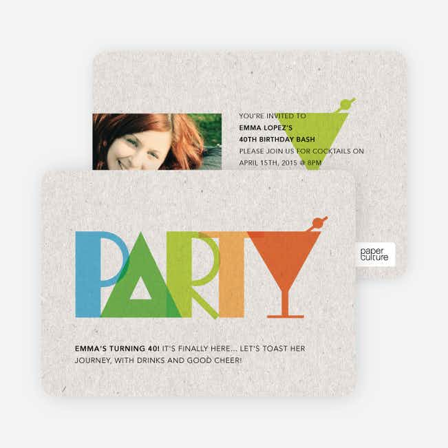 P-A-R-T-Y Party Invitations - Multi