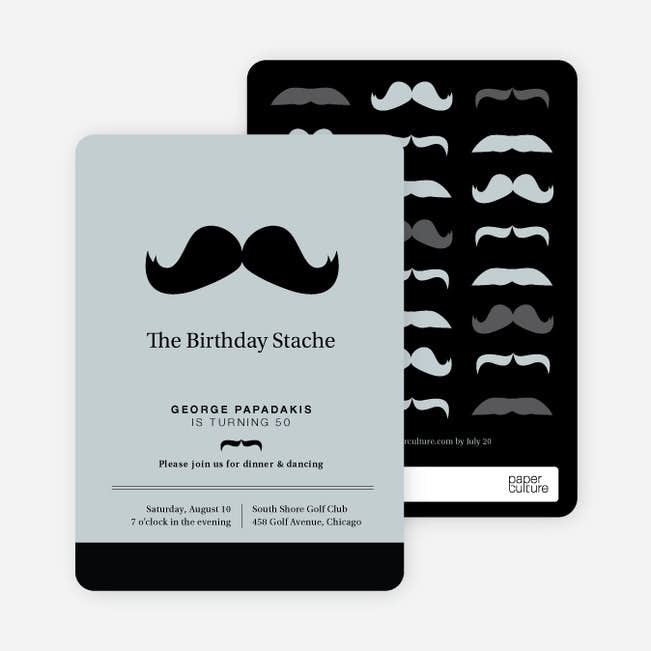 Movember Mustache Party Invitations