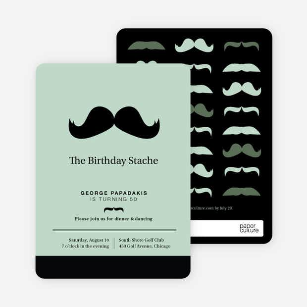Movember Mustache Invitations - Main