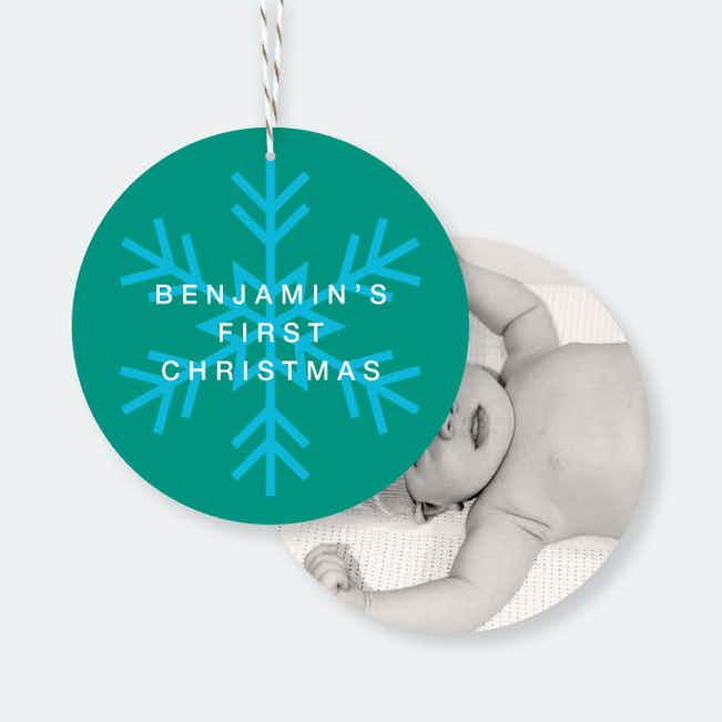 Snowflake Christmas Ornaments - Blue