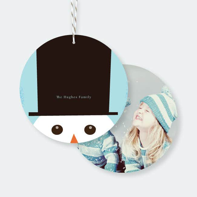 Snowman Christmas Ornaments - Blue