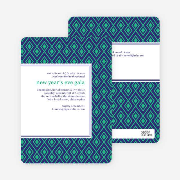 Patterned Party Invitations - Main