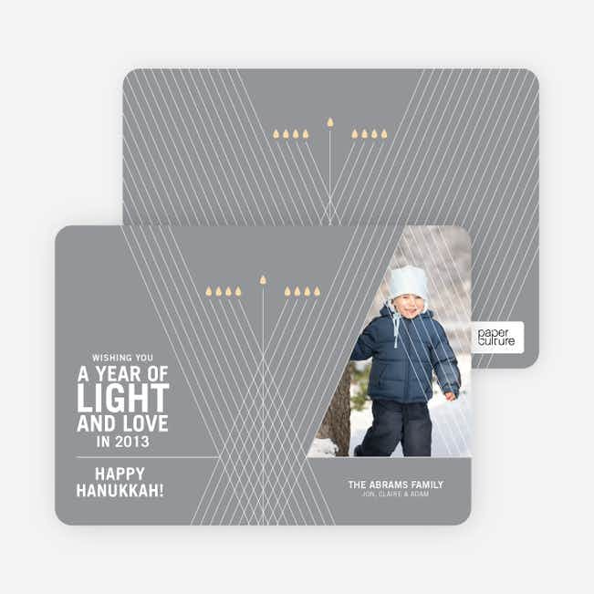 Light and Love Hanukkah Cards - Silver