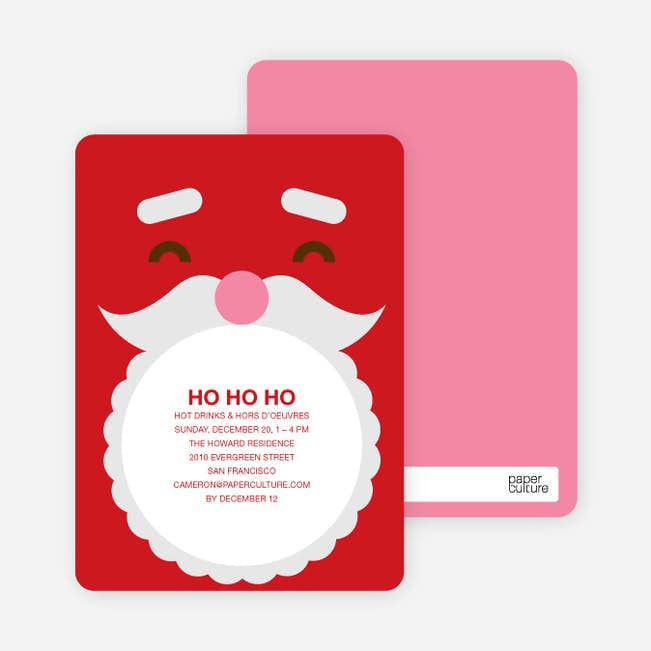 Santa Claus Christmas Card And Party Invitation Paper Culture