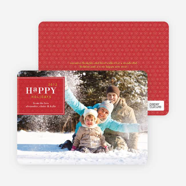 Simply Classic Holiday Photo Cards - Cherry