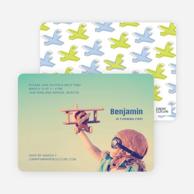 Airplane Birthday Invitation Paper Culture