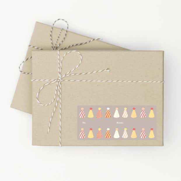 Birthday Hat Gift Tags - Main