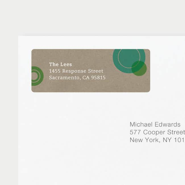 Circles Address Labels - Green