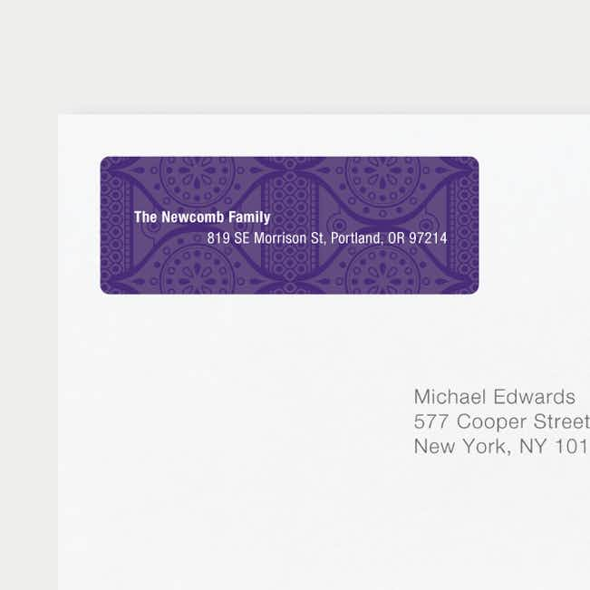 Ice Caps Address Labels - Purple