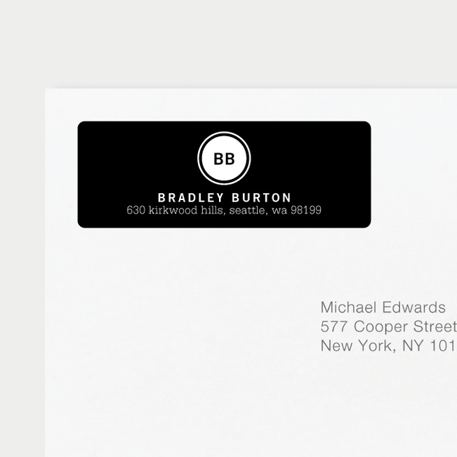 Professional Monogram Address Labels | Paper Culture