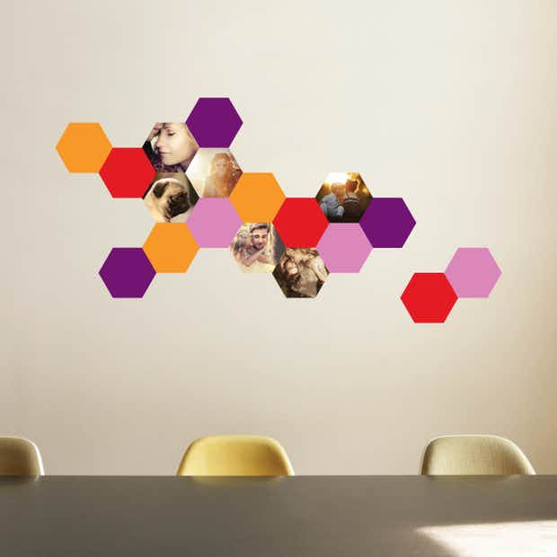 Honeycomb Shapes - Wall Decal