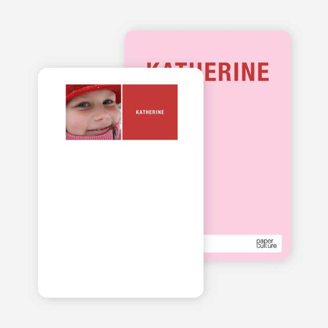 All Square Personalized Photo Note Cards - Crimson