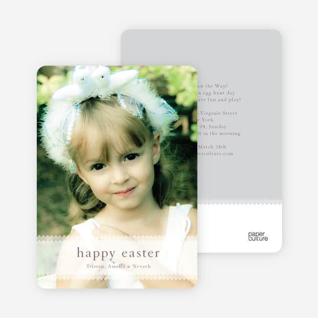 Classic Easter Photo Cards - Salmon