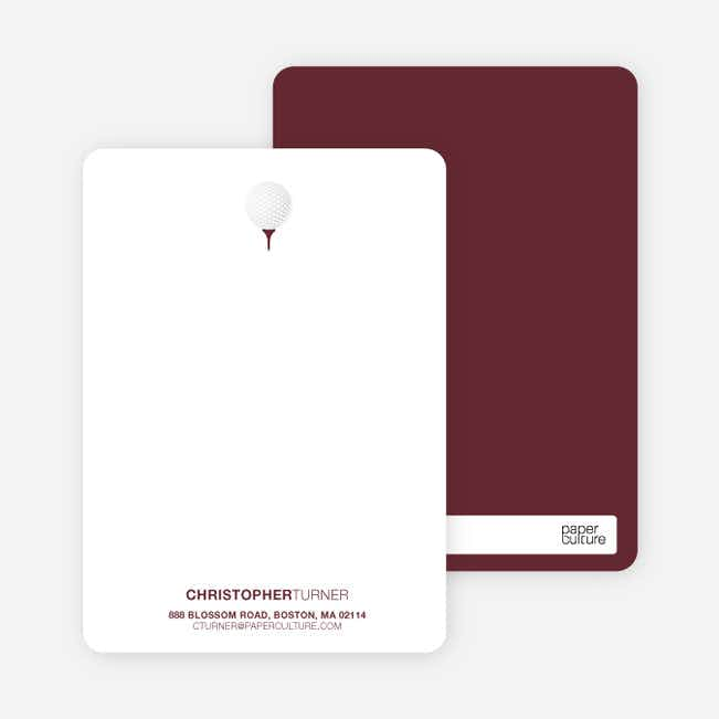 Golf Themed Stationery - Sangria