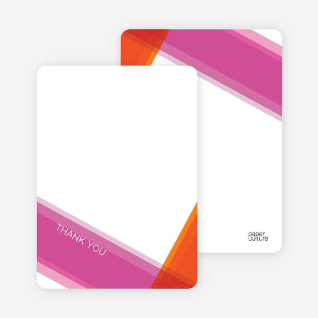 Note Cards: 'Modern Cross Baptism Invite' cards. - Flaming Orange
