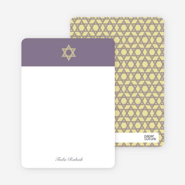 Simple Star of David Note Cards - Main