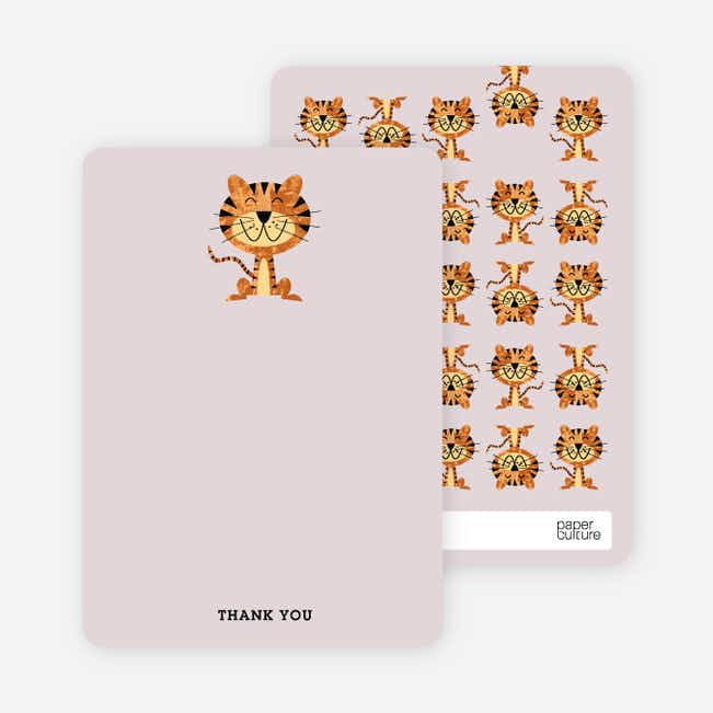 Stationery: 'Year of the Tiger Shower' cards. - Powdery Lilac