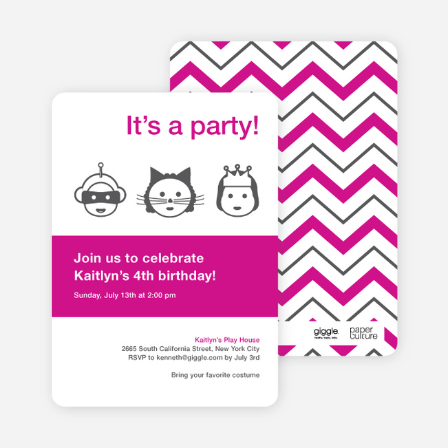 Costume Party Birthday Party Invitations Paper Culture