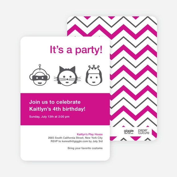 Costume party birthday party invitations paper culture filmwisefo