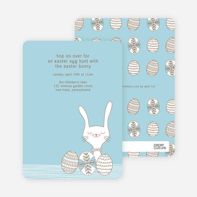 hop on over easter invitations paper culture