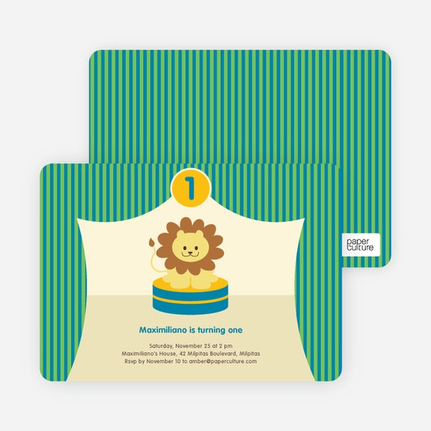 King of the big top tent lion birthday party invitations paper king of the big top tent main filmwisefo