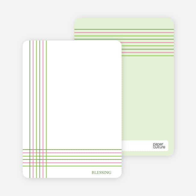 Notecards for the 'Bold, Geometric Cross' cards. - Forest Green