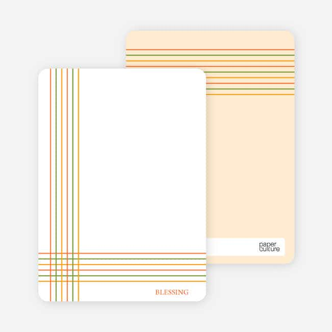 Notecards for the 'Bold, Geometric Cross' cards. - Tangerine Orange