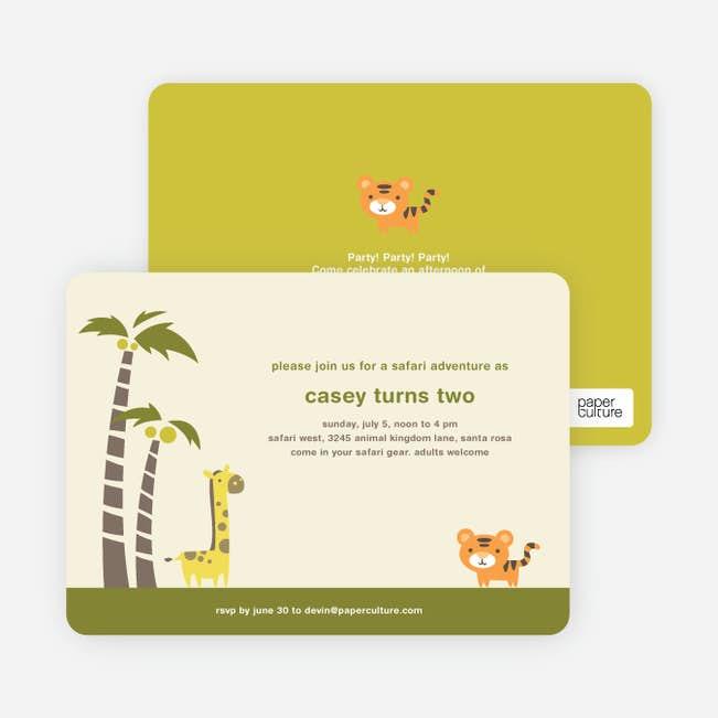 safari birthday party invitations paper culture