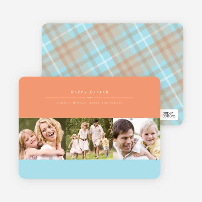 Three Photo Easter Cards - Beach Peach