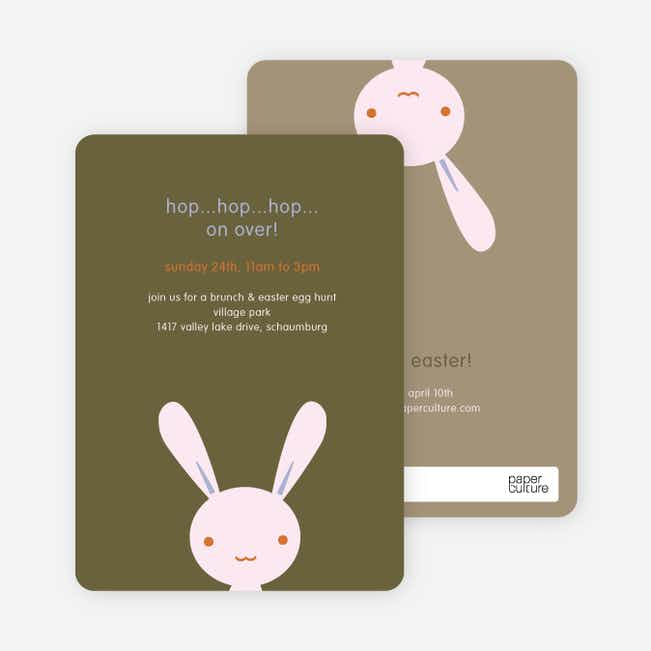 Hip Hop Easter Bunny Cards - Pink Yogurt