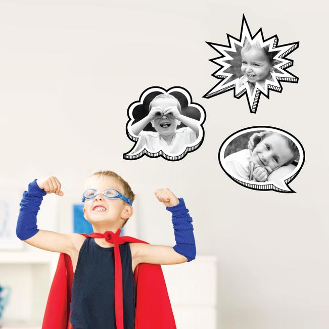 comic bubbles fun wall stickers paper culture alphabet children s wall stickers