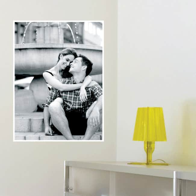 Photo Rectangle Wall Stickers - White