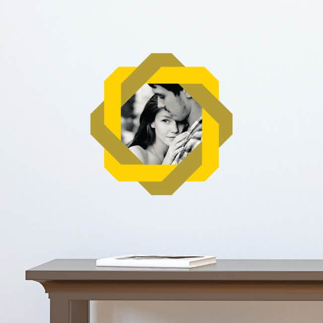 All Twisted Up Lovers Photo Decals - Yellow