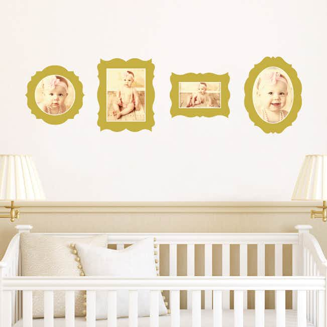 Antique Photo Frame Wall Decals - Yellow