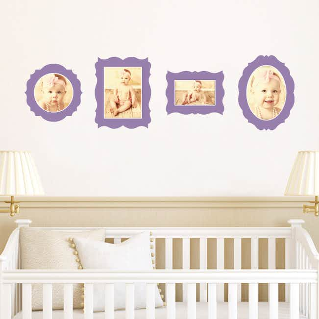 Antique Photo Frame Wall Decals - Purple