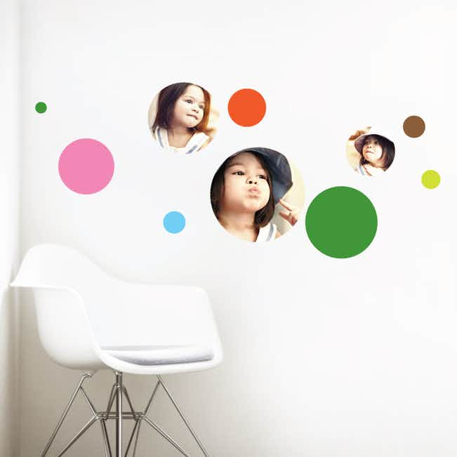 Bubble Up, Circle Photo Wall Decals - Green